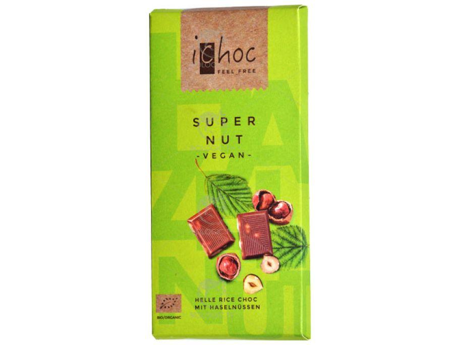Шоколад с лесными орехами органический iChoc Super Nut 80г - FreshMart