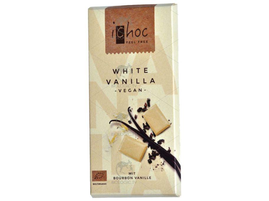 Шоколад белый с бурбонской ванилью органический iChoc White Vanilla 80г - FreshMart