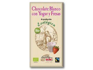 Шоколад білий з полуницею і йогуртом органічний Chocolates Solé 100г - FreshMart