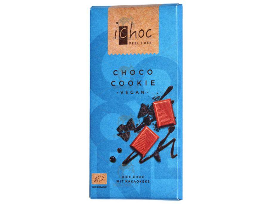 Шоколад с кусочками шоколадного печенья органический iChoc Choco Cookie 80г - FreshMart