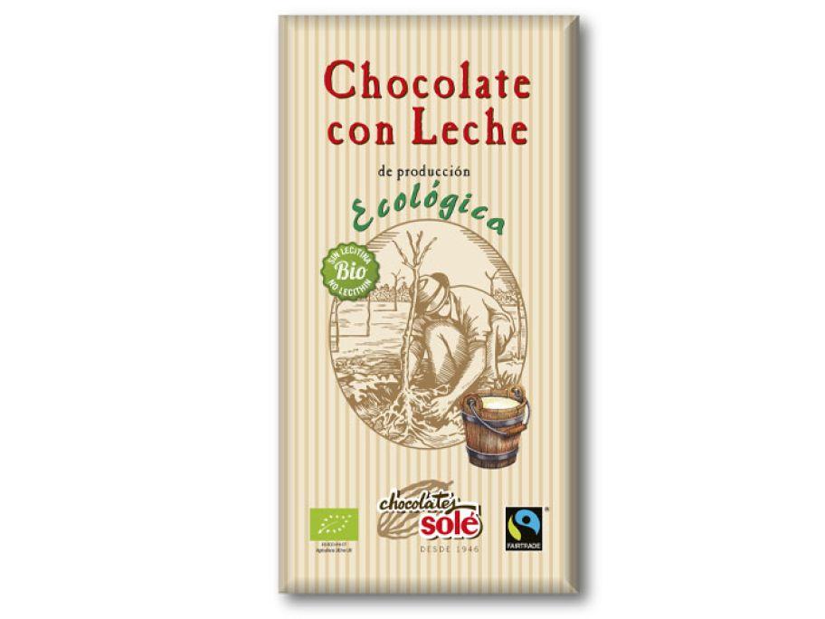Шоколад молочный органический Chocolates Solé 100г - FreshMart