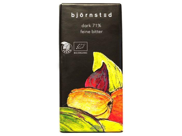 Шоколад чёрный 71% органический Björnsted 100г - FreshMart