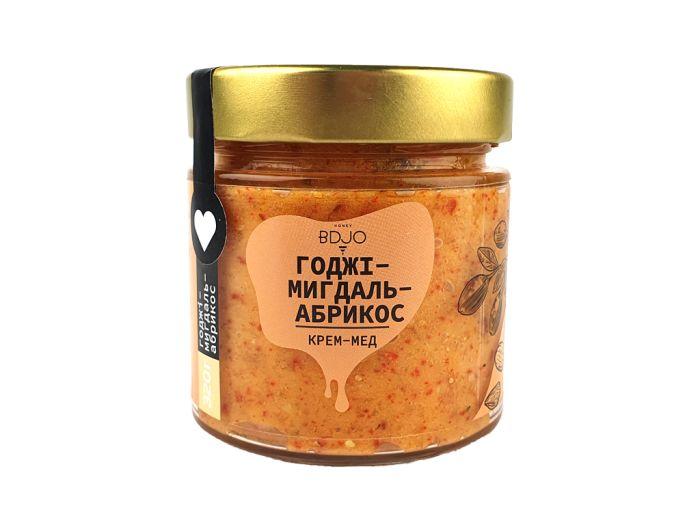 Крем-мед годжі-мигдаль-абрикос BDJO 300г - FreshMart