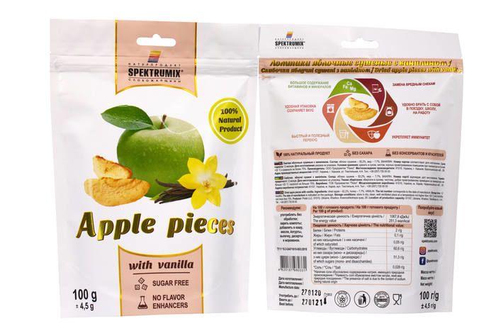 Ломтики яблучні сушені з ваніліном 100г - FreshMart