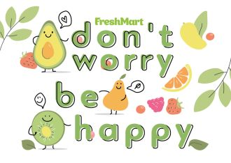 "Наклейка ""don't worry be happy"" - FreshMart"