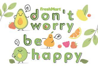"Наліпка ""don't worry be happy"" - FreshMart"