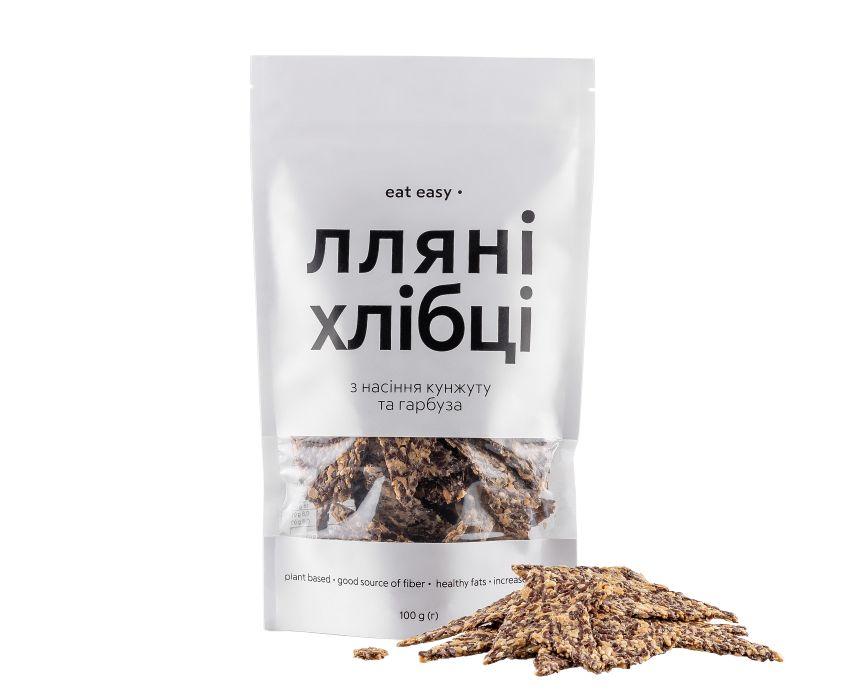 Льняные хлебцы семенами кунжута и тыквы Eat Easy 100г - FreshMart
