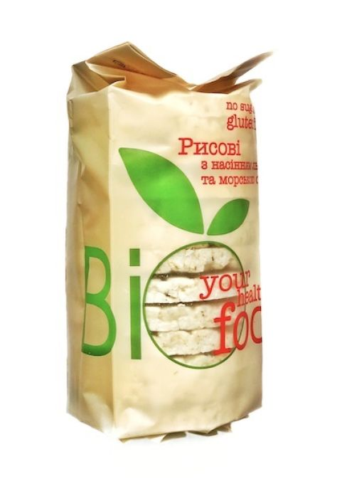 Хлебцы рисовые с семенами льна и морской солью Bi Food 100г - FreshMart