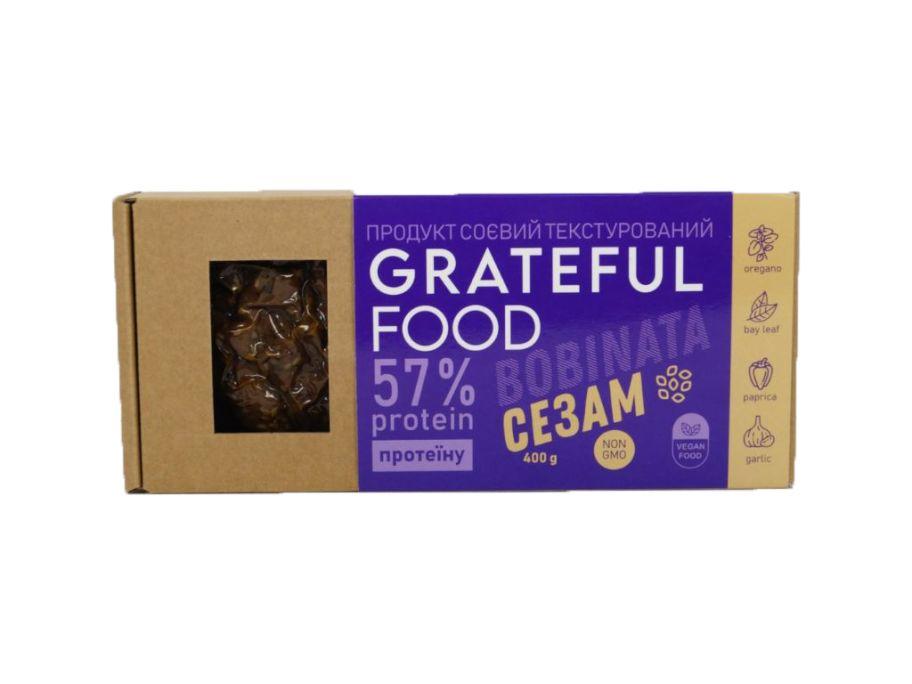 """Продукт соевый """"Сезам"""" Grateful Food 400г - FreshMart"""