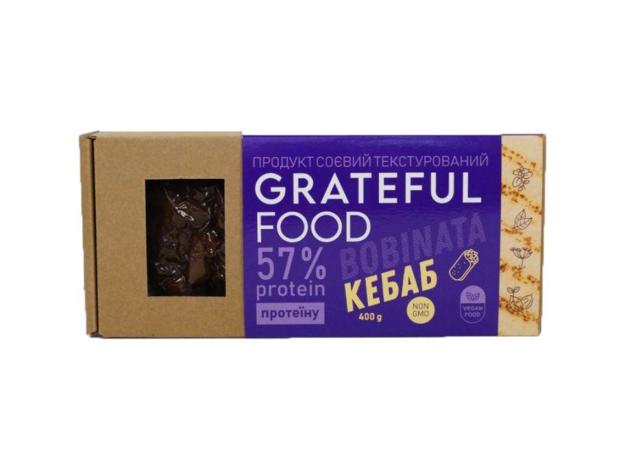 """Продукт соевый """"Кебаб"""" Grateful Food 400г - FreshMart"""