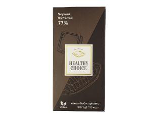 Шоколад черный 77% Healthy Choice 20г - FreshMart