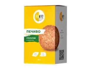 Печенье спельтовое с кокосом Ponyc 180г - FreshMart