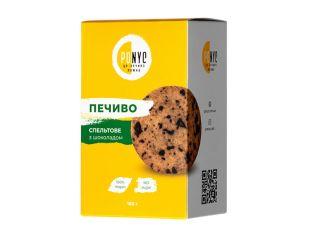 Печенье спельтовое с шоколадом Ponyc 180г - FreshMart