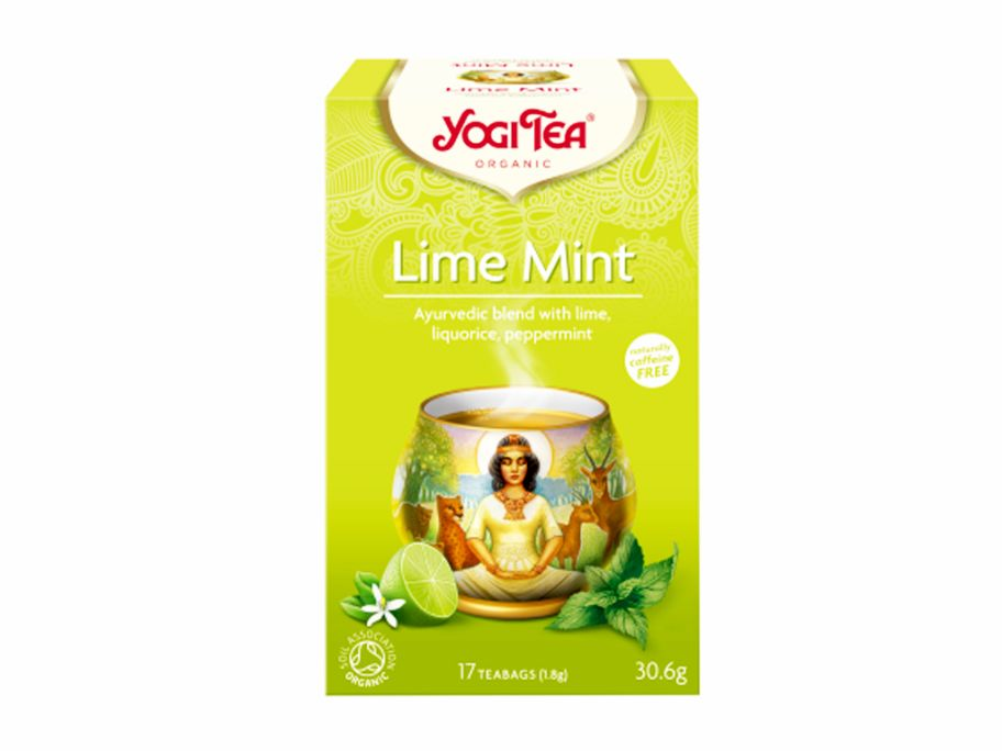 "Чай травяной с пряностями ""Лайм-Мята"" органический Yogi Tea 30 г - FreshMart"