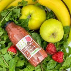 Смузі полуниця-яблуко-банан-м'ята 300 мл - FreshMart