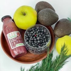 Смузи яблоко-черника-авокадо 300 мл - FreshMart