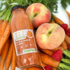 Смузи персик-малина-морковь 300 мл - FreshMart