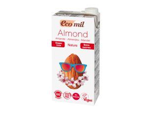 Молоко растительное миндальное органическое без сахара Ecomil 1 л - FreshMart