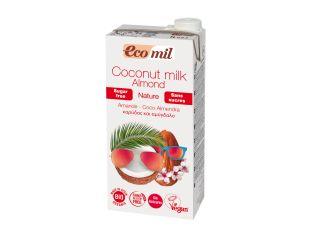 Молоко рослинне мигдалево-кокосове органічне без цукру Ecomil 1 л - FreshMart