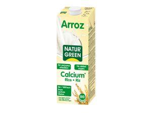 Молоко растительное рисовое органическое без сахара с кальцием Natur Green 1 л - FreshMart
