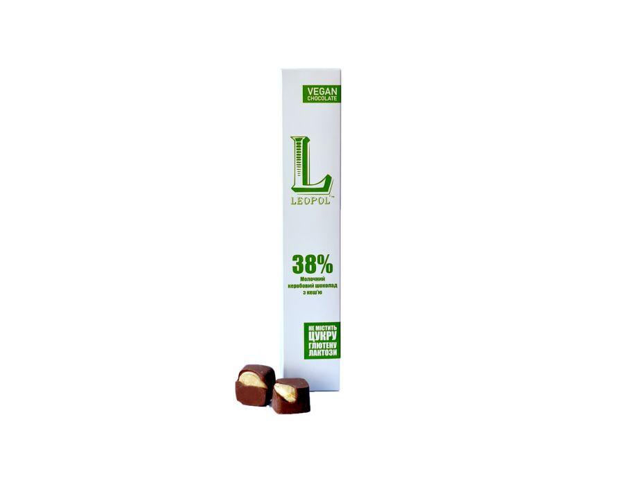 Конфеты молочный кэробовый шоколад с кешью Leopol' 60 г - FreshMart