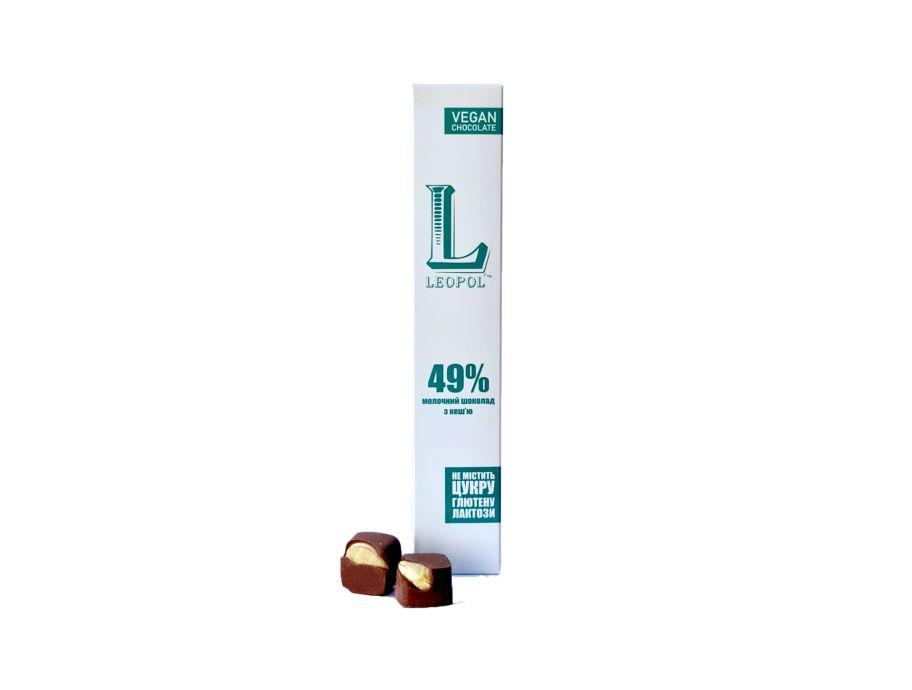 Конфеты молочный шоколад с кешью Leopol' 60 г - FreshMart