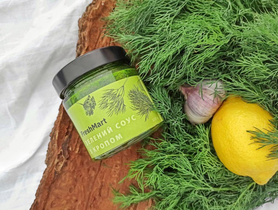Зеленый соус с укропом FreshMart 220 г - FreshMart