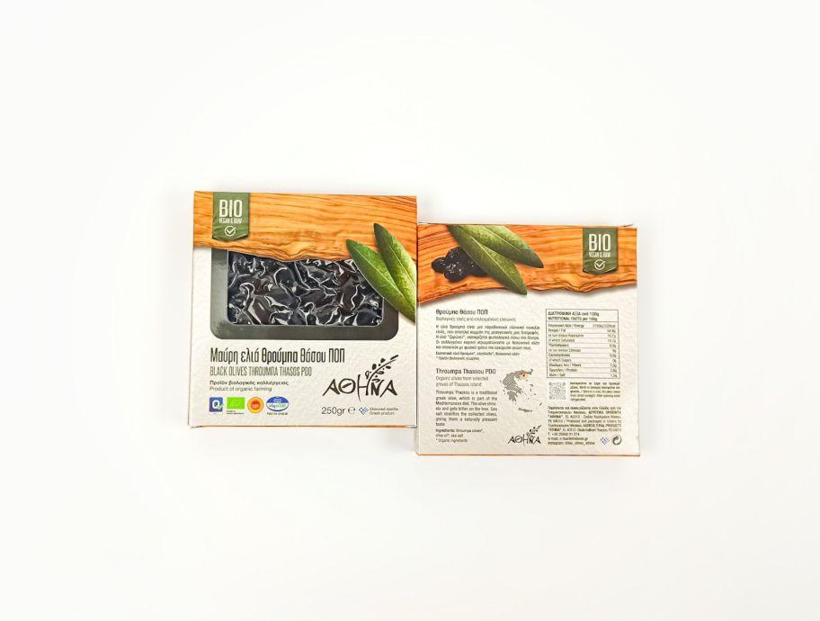 Оливки вяленые Фрумба Тасос BIO органические Греция 250 г - FreshMart