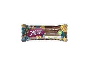 Грильяж на фруктозі глазурований «Повітряний рис + арахіс» Жайвір 36 г - FreshMart
