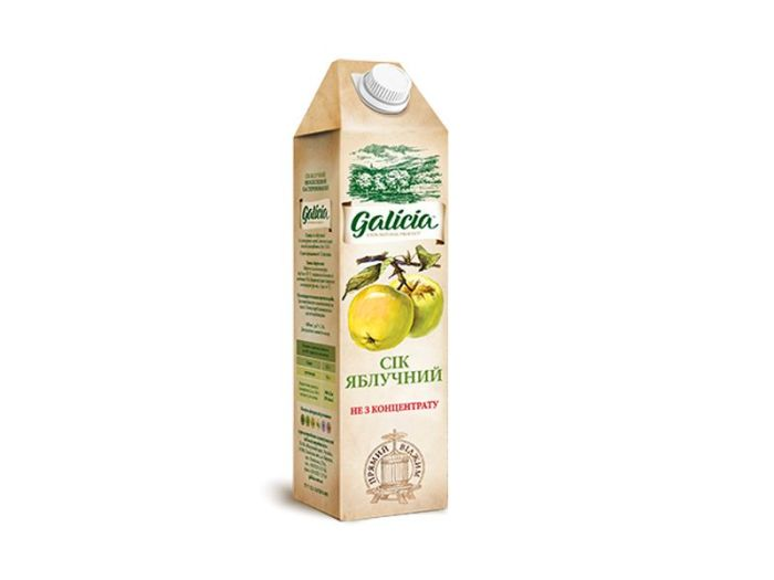 Сік Galicia яблучний тетрапакет 1л - FreshMart