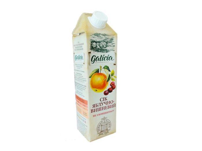 Сок Galicia яблочно-вишневый тетрапакет 1л - FreshMart