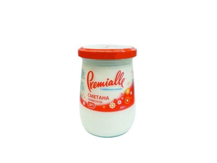 Сметана Premialle термостатная 20% 260г - FreshMart