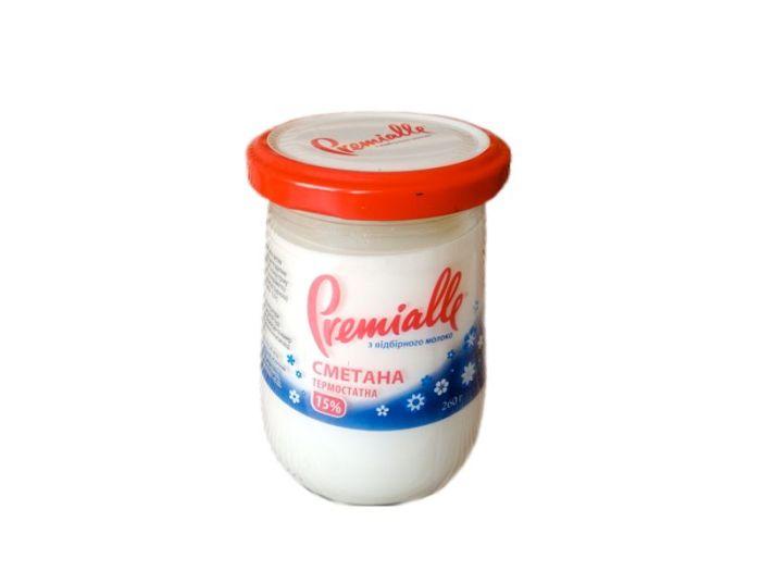 Сметана Premialle термостатная 15% 260г - FreshMart