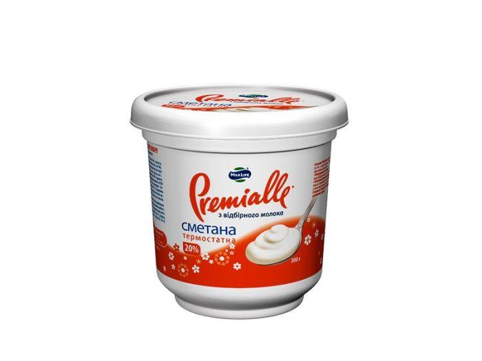 Сметана Premialle термостатная 20% 300г - FreshMart