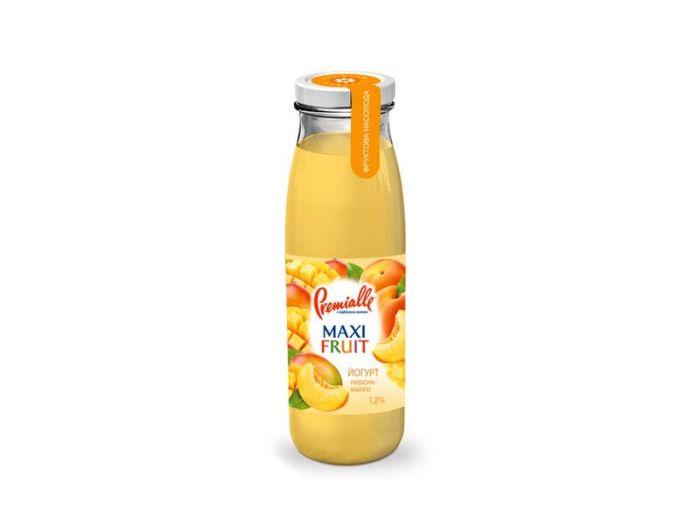 Йогурт Premialle персик-манго 1.2% 340г - FreshMart