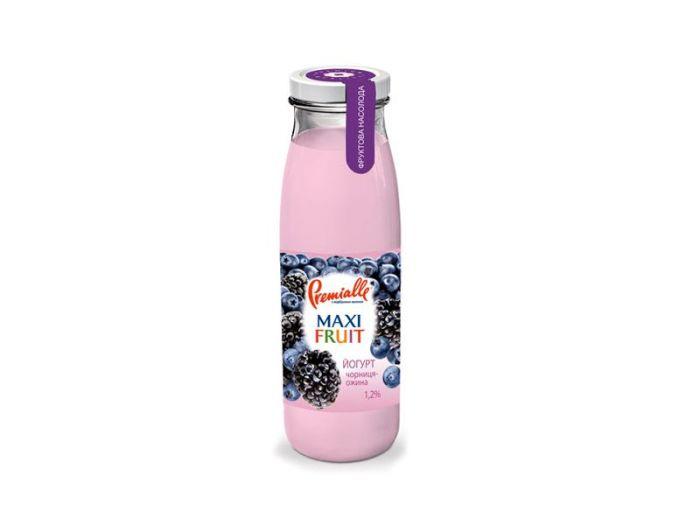 Йогурт Premialle черника-ежевика 1.2% 340г - FreshMart