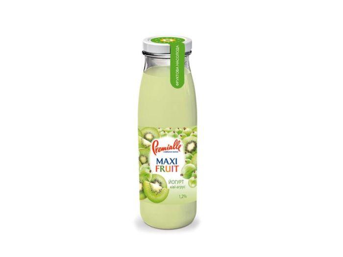 Йогурт Premialle киви-крыжовник 1.2% 340г - FreshMart