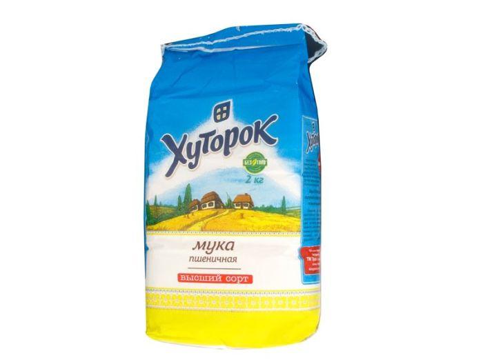 Мука Хуторок пшеничная 2кг - FreshMart