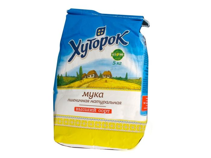 Мука Хуторок пшеничная 5кг - FreshMart