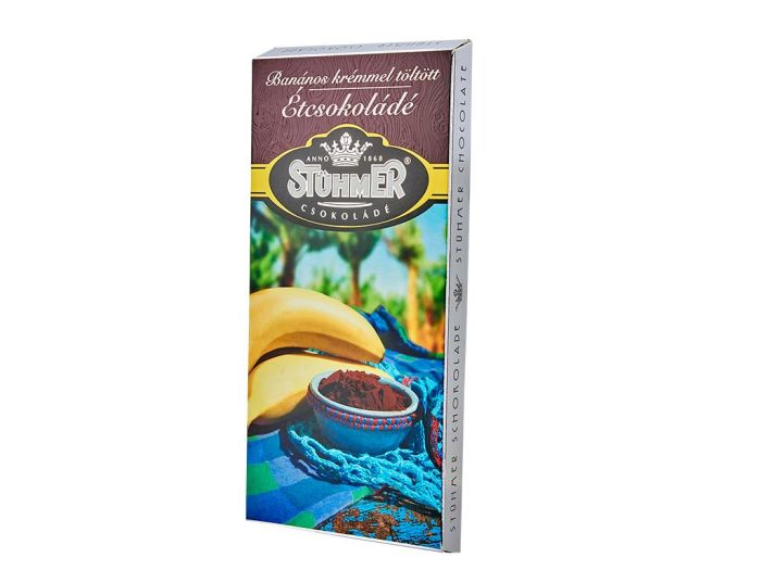 Шоколад Stuhmer черный с кремом банан-мёд-лимон 100г - FreshMart