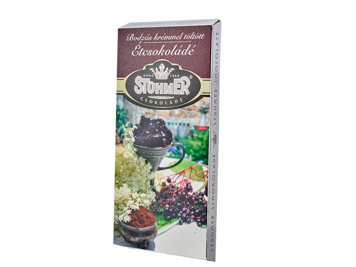 Шоколад Stuhmer черный с бузиновым кремом 100г - FreshMart
