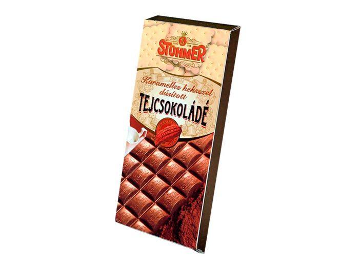 Шоколад Stuhmer молочный с печеньем и карамелью 100г - FreshMart