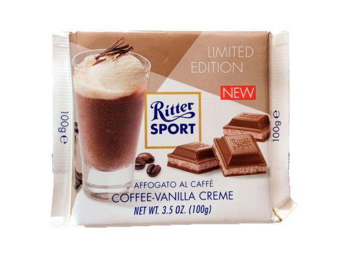 Шоколад Ritter Sport молочный с кофейно-ванильным кремом 100г - FreshMart