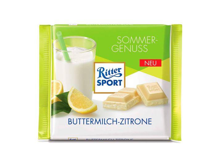 Шоколад Ritter Sport белый с йогуртово-лимонной начинкой 100г - FreshMart