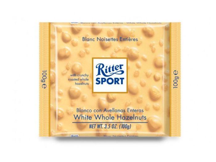 Шоколад Ritter Sport белый с лесными орехами 100г - FreshMart