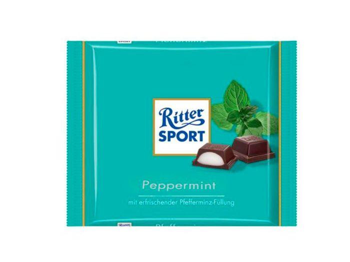 Шоколад Ritter Sport черный с кремово-мятной начинкой 100г - FreshMart