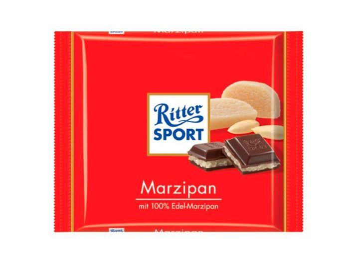 Шоколад Ritter Sport черный с марципаном 100г - FreshMart