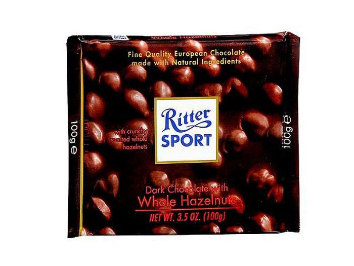 Шоколад Ritter Sport черный с лесными орехами 100г - FreshMart